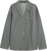 Calvin Klein Underwear Printed cotton-flannel pajama shirt