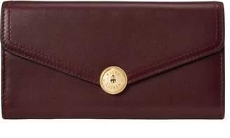 Ralph Lauren Logo-Snap Calfskin Wallet