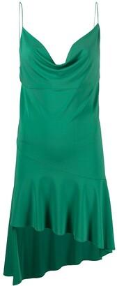 Andamane Cowl Asymmetric Mini Dress