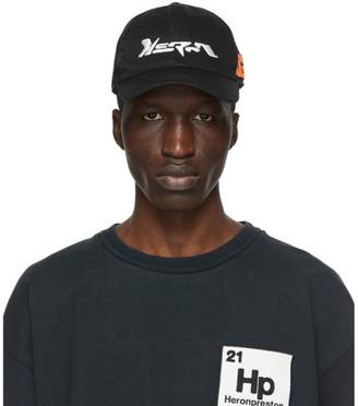 Heron Preston Black Techno Trucker Hat