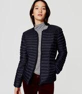 LOFT Petite Pintucked Puffer Jacket
