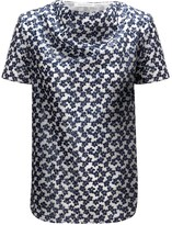 J.W.Anderson Navy Floral Moon Top