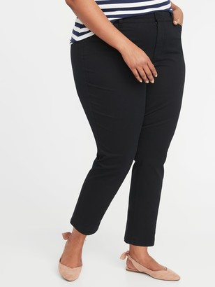 Old Navy Mid-Rise Secret-Slim Pockets Plus-Size Pixie Chinos