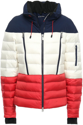 Perfect Moment Quilted Color-block Shell Down Jacket