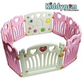 Kiddygem Angel Wings and Hearts Baby 10 Panels Playpen, Pink by KiddyGem