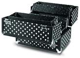 Caboodles Charmed 4 Tray Train Case with White Polka Dots