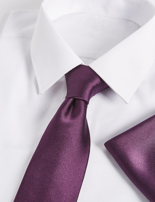 Marks and Spencer Pure Silk Tie & Pocket Square Set