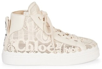 Chloé Lauren Logo Lace Sneakers