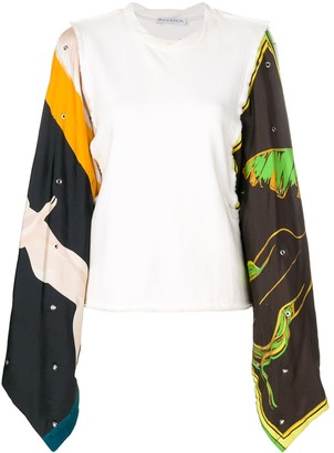 J.W.Anderson printed sleeves top