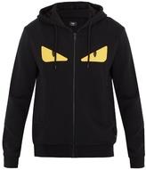 Fendi Bag Bugs Eyes-appliqué Wool-blend Hooded Sweater