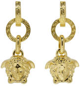 Versace Gold Three Ring Medusa Earrings