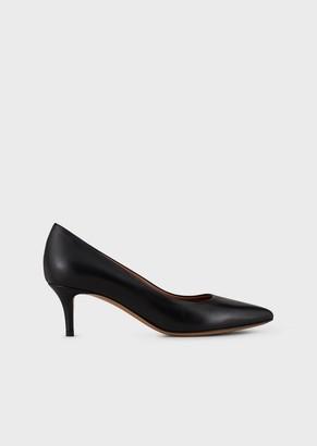 Emporio Armani Leather Pumps With Stiletto Heel