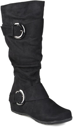 Journee Collection Jester Side Buckle Tall Boot - Wide Calf