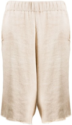 Avant Toi Oversized Knee-Length Shorts