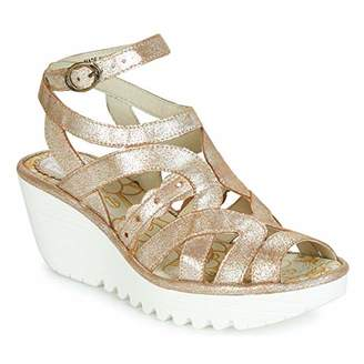 Fly London Women's YDNA991FLY Ankle Strap Sandals, (Silver 005), 3 (36 EU)