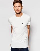 Jack Wills Pocket T-Shirt in White Nep in Slim Fit
