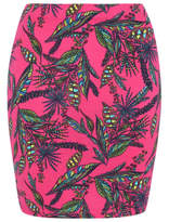 George Printed Jersey Tube Skirt