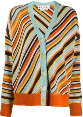 Marni striped V-neck cardigan