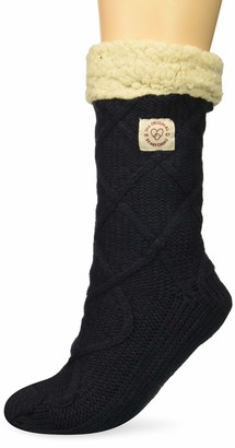 Dearfoams Women's Cable Knit Blizzard Sock Slipper