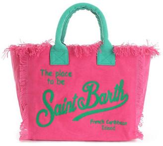 MC2 Saint Barth Saint Barth Embroidery Fucsia Canvas Bag