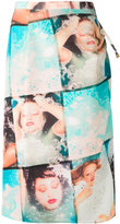 Kenzo photograph printed pencil skirt - women - Polyamide/Polyester/Viscose - 38