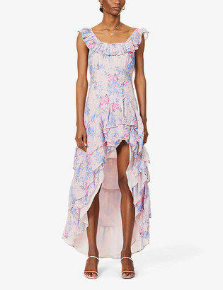 LoveShackFancy Winslow floral-print cotton and silk-blend midi dress