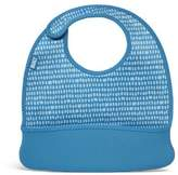 Built NY 2-Piece Mess Mate Toddler Bib, In Dribble Dots Blue by NY