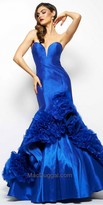 Mac Duggal Sweetheart Rosette Mermaid Evening Dress