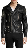 Diesel Black Gold Likol Studded Motorcycle Jacket