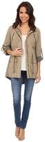 Levi's Fashion Light Weight Parka w/ Roll Up Sleeve (Khaki) Women's Coat