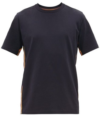 Paul Smith Artist-stripe Cotton T-shirt - Mens - Navy