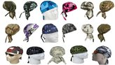 Buy Caps and Hats Camouflage Doo Do Rag Assorted Lot Camo Bandana Headwrap Skull Cap