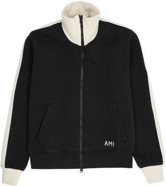 Ami Black jersey track jacket