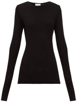 Raey Crew-neck Fine-rib Cashmere Sweater - Womens - Black