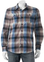 Burnside Men's Plaid Flannel Button-Down Shirt