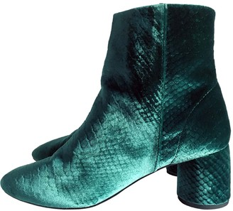 And other stories & Green Velvet Ankle boots
