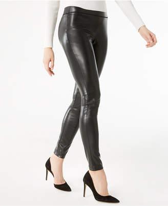 INC International Concepts Inc Petite Faux-Leather Skinny Pants