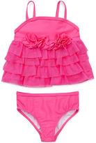 Little Me Baby Girls' 2-Piece Mesh Swimsuit