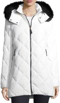 Bogner Fire & Ice Bogner Nika Diamond-Quilted Hooded Puffer Coat w/ Fox Fur