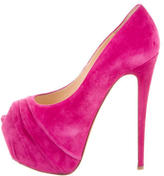 Christian Louboutin Suede Highness Pumps