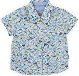 Paul Smith Dinosaur-Print Slub Cotton Shirt
