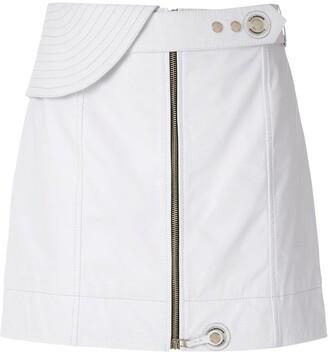 À La Garçonne Leather Mini Skirt