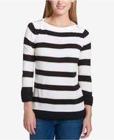 Tommy Hilfiger Striped Embellished Sweater, Created for Macy's