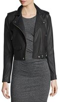 IRO Ashville Leather Moto Jacket, Red