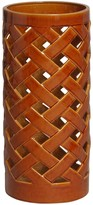The Well Appointed House Crisscross Umbrella Stand/Vase in Russet