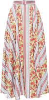 Luisa Beccaria Cotton Jacquard Floral Skirt