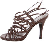 Sigerson Morrison Leather Ankle Strap Sandals