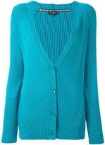 Etro v neck cardi-coat - women - Wool/Viscose/Cashmere - 44