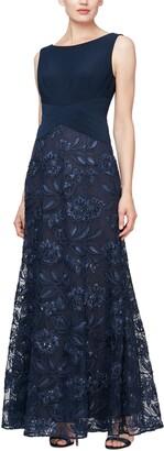 Alex Evenings Sleeveless Beaded Gown