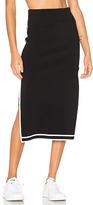 KENDALL + KYLIE Sports Border Skirt in Black